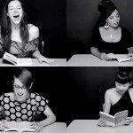 El proyecto de Clayton Cubbit, Hysterical Literature, son ocho mujeres grabadas mientras leen, pero por debajo de la mesa son estimuladas con un vibrador.