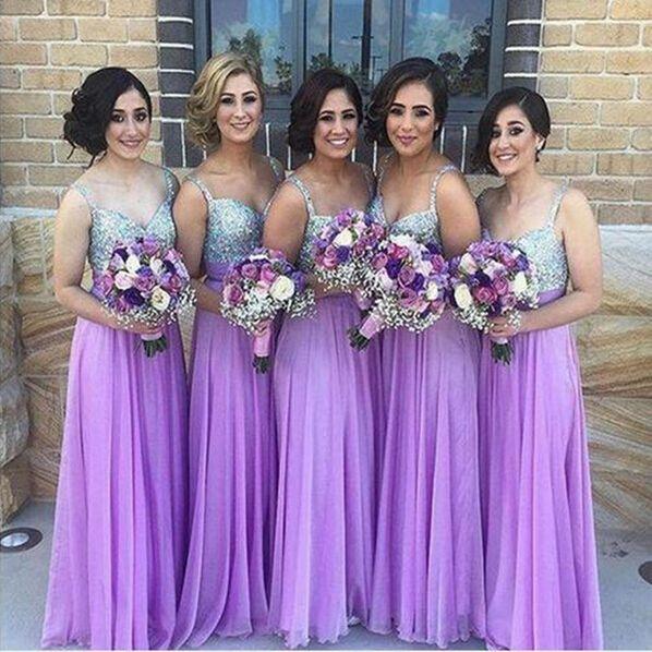 Chiffon Bridesmaid DressLilac GownBridesmaid GownsBridesmaid DressesBridesmaid Gowns