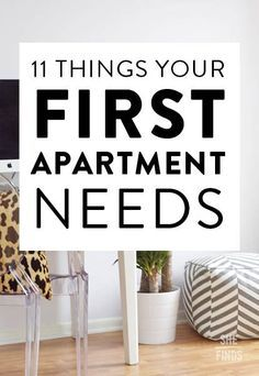 11 things your first apartment needs!
