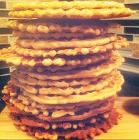 Ginger pizzelles