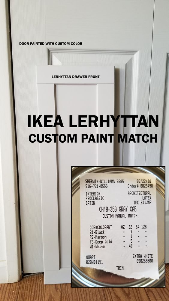 Ikea Lerhyttan Custom Paint Match From Sherwin Williams Home