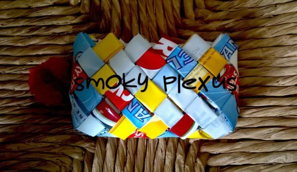 Handmade Upcycled Tobacco Packaging Handbags Accessories Recycled Packaging