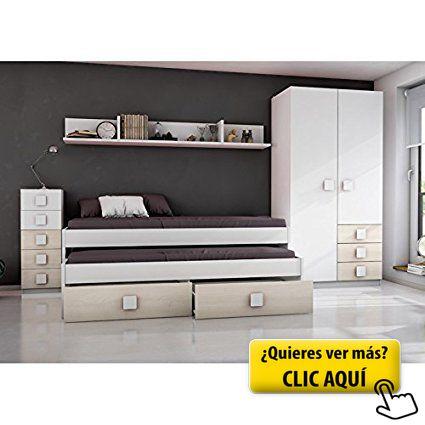 HOGAR24.ES- CAMA NIDO COMPACTO CON DOS CAMAS Y... #cama
