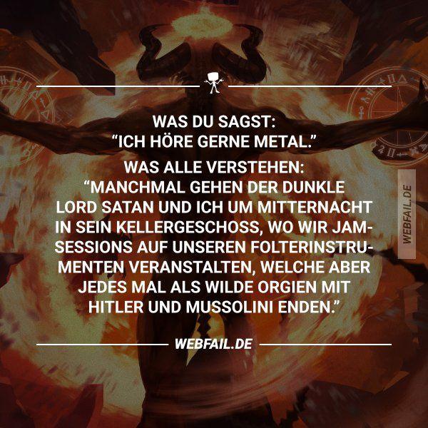 Ich bin kein Satanist!