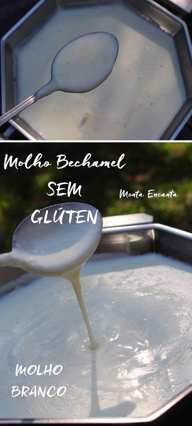 Molho Bechamel sem glúten, mais leve, mais delicado e incrivelmente delicioso. O amido de milho substitui a farinha de trigo no preparo.