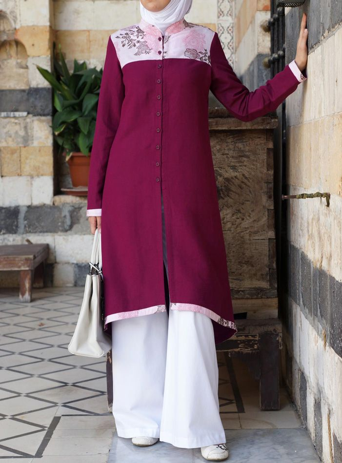So Classy!  Atira Tunic with Flower Print from SHUKR Islamic Clothing