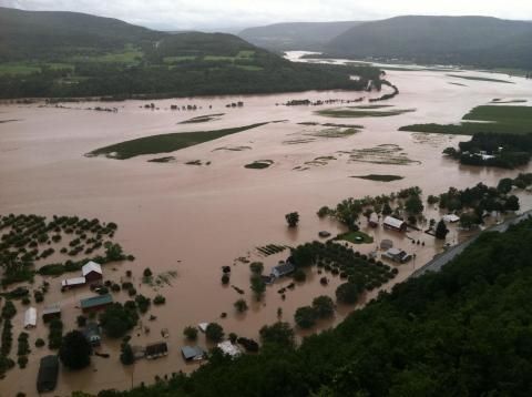 The Schoharie Valley from Vroman's Nose following Tropical Storm Irene.