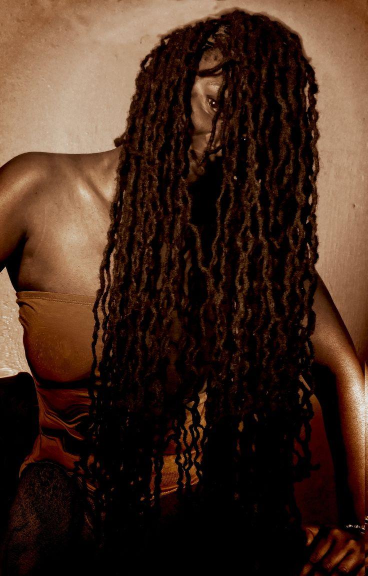 Black Woman, Long Dreadlocks by Julie Williamson