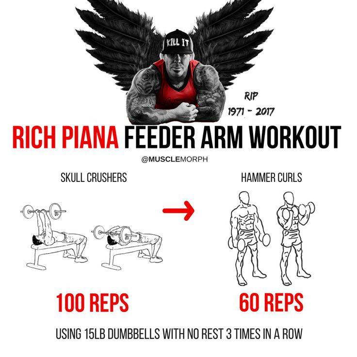 Rich pian feeder Arm workout musclemorph https://musclemorphsupps.com