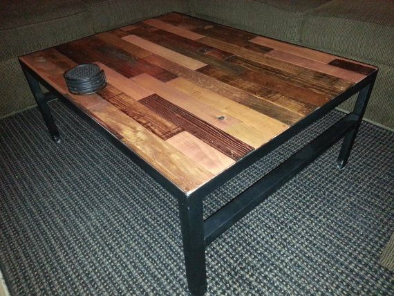 angle iron and reclaimed wood coffee table - 179 Best For The Home Images On Pinterest Wood, Home And Projects