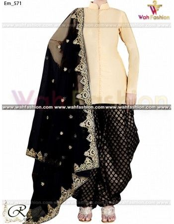 Give yourself a stylish & designer look with this Stunning Cream And Black Designer Punjabi Suit. Embellished with lace work. Available with matching bottom & dupatta. It will make you noticable in special gathering. You can design this suit in any color combination or on any fabric. Just whatsapp us for more details.  For more details whatsapp us: +919915178418 @mandarwandile@eaydnbakar@badal1041@shaanresh19@kaurangel79230@priyayadav77377