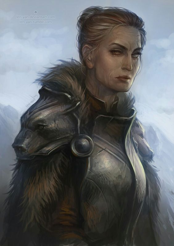 Ursa by len-yan (looks like Maege Mormont to me!) | Characters | Pinterest | Maege mormont, Fantasy rpg and Character art