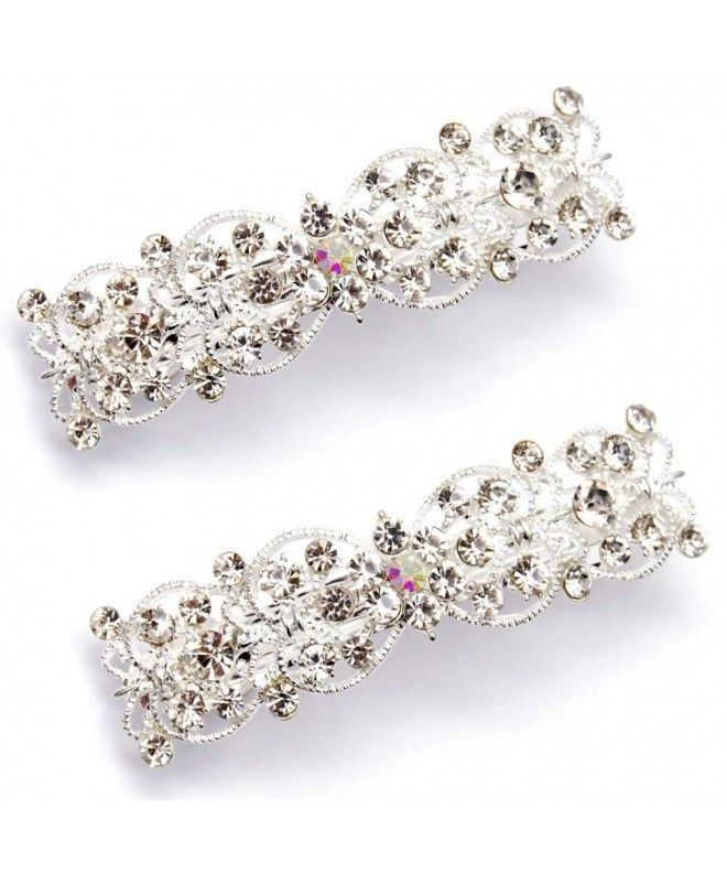 Small Resin and Crystal Hair Barrette 0148