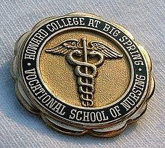 Howard College at Big Springs Vocational School of Nursing Graduation Pin