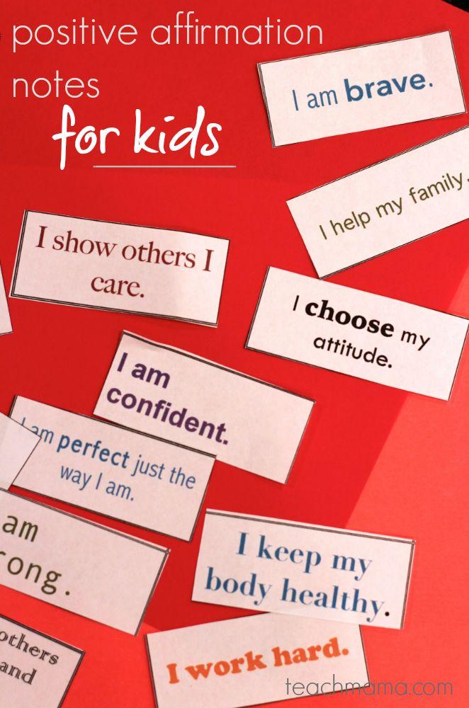 positive affirmation notes for kids: lunchbox love  | #backtoschool   #freeprintable teachmama.com --> DEFINITELY a keeper
