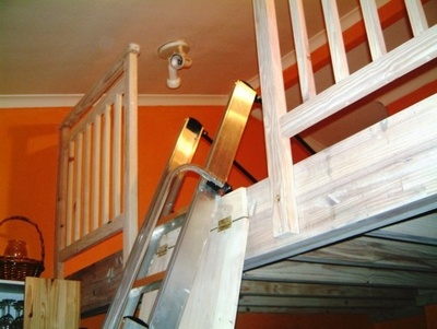 Retractable Loft Ladder Cabin Decor Pinterest