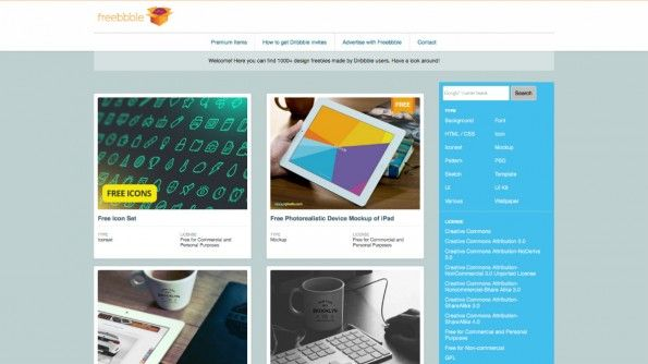 Freebbble: 1000 kostenlose Design-Vorlagen aus dem Dribbble-Imperium http://freebbble.com/