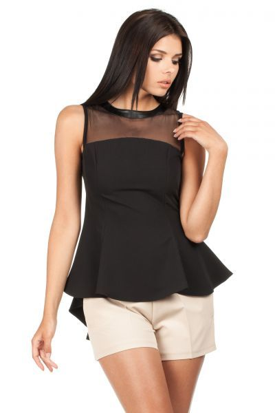Black Sleeveless with a transparent top