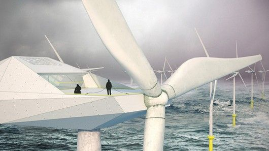 With an idea sure to raise hopes, eyebrows and hackles in roughly equal proportions, architectural outfit Morphocode has cooked up the idea of building loft apartments into offshore wind turbines.