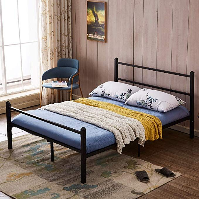 Amazon Com Greenforest Bed Frame Queen Size No Squeaky Metal