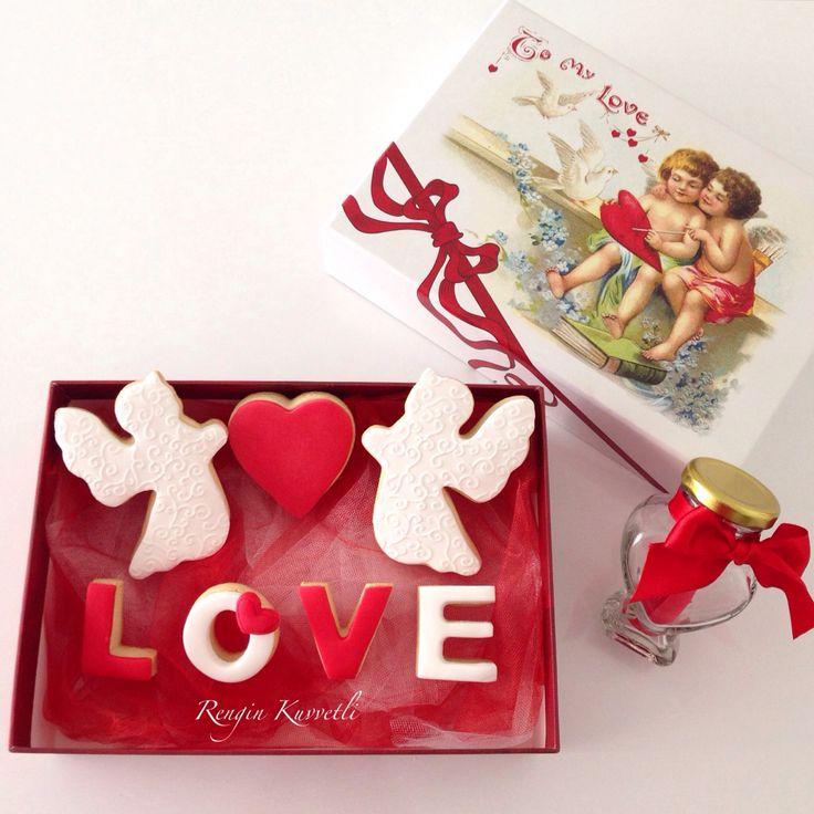 Sevgililer Günü Kurabiye Kutusu / Valentine's Day Cookie Box