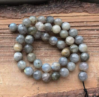 Лабрадор 8 мм шар огранка бусины камни для украшений. Handmade.