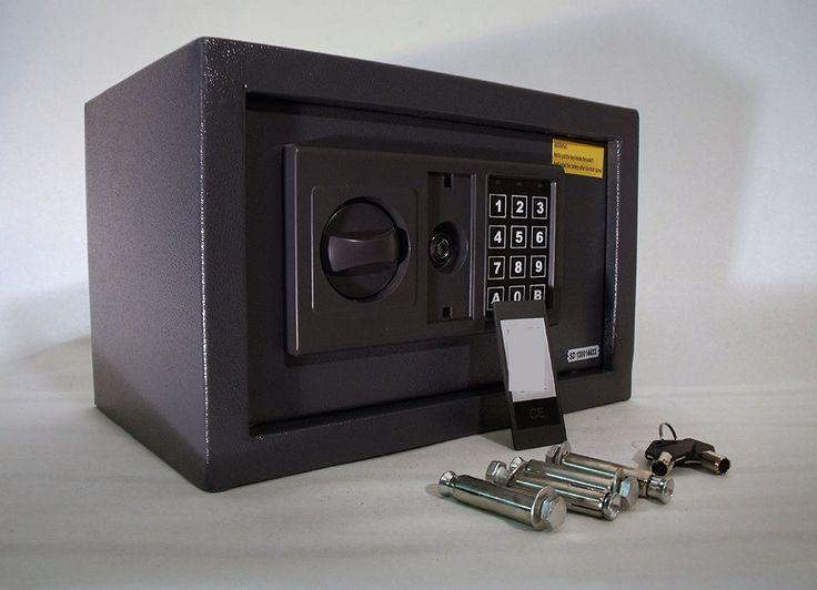 Digital Steel Safe High Security Safe Box Electronic Money Safe Floor/Wall 8.5L #DigitalSteelSafe