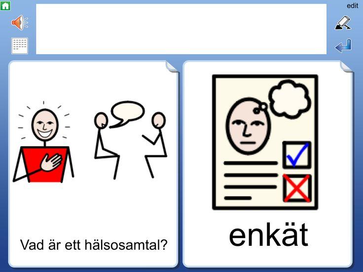 Uppdatering av hälsosamtal med bildstöd i appen Widgit Go SE | Pedagog Värmland