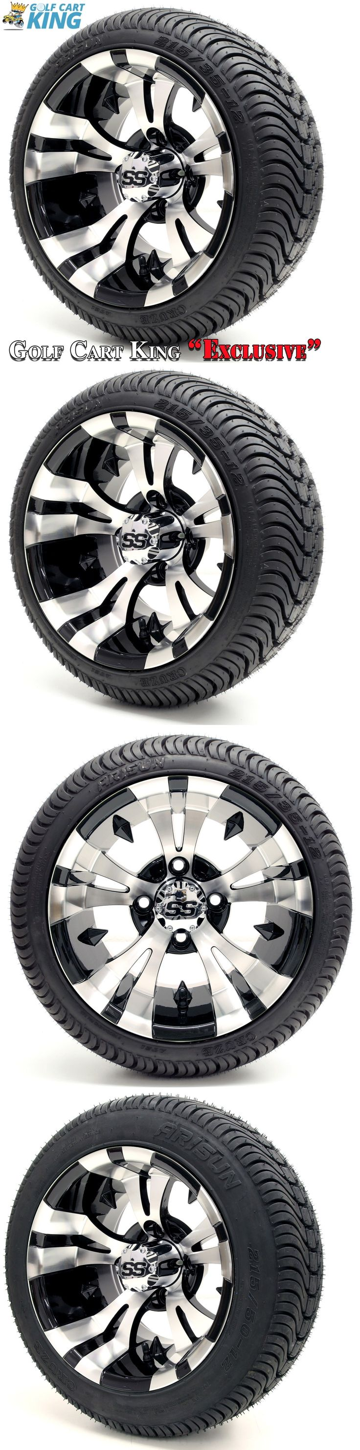 Push-Pull Golf Carts 75207: Golf Cart 12 Vampire Ss Wheel Rim And (215 35-12 Or 215 50-12) Dot Tire Combo -> BUY IT NOW ONLY: $419 on eBay!