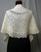 Ravelry: Let it snow. Orenburg Shawlette pattern by Russian Lily