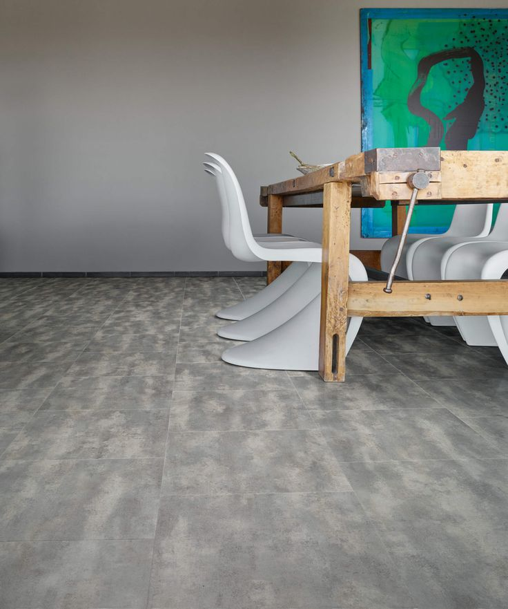 Concrete 40945 - Stone Effect Luxury Vinyl Flooring - Moduleo