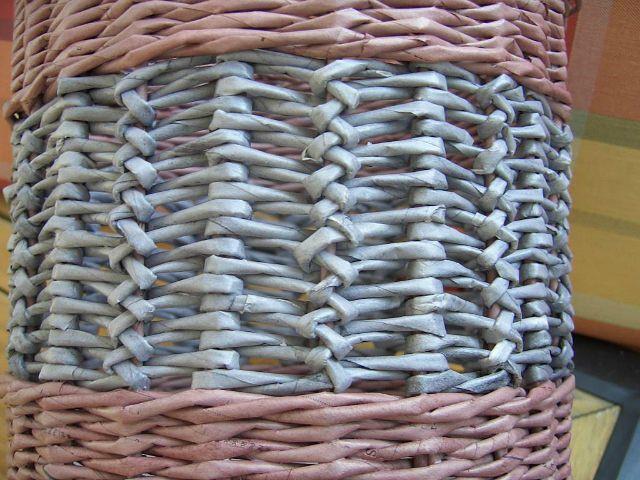 Плетение из газет. Узор (из чешского сайта)