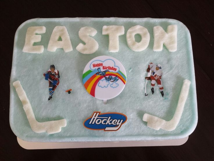 Hockey themed cotton candy cakes are popular
