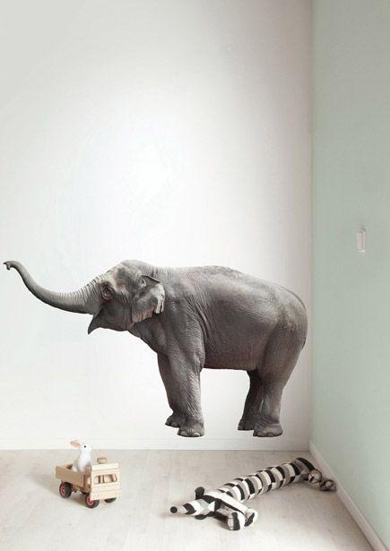 Muursticker dieren olifant Safari Friends Elephant XL