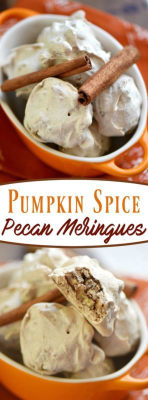 Just four ingredients in these festive Pumpkin Spice Pecan Meringues! So easy to make, lovely and light, and filled with the flavors of fall!Fall is here and with it comes baking season - my favorite time...