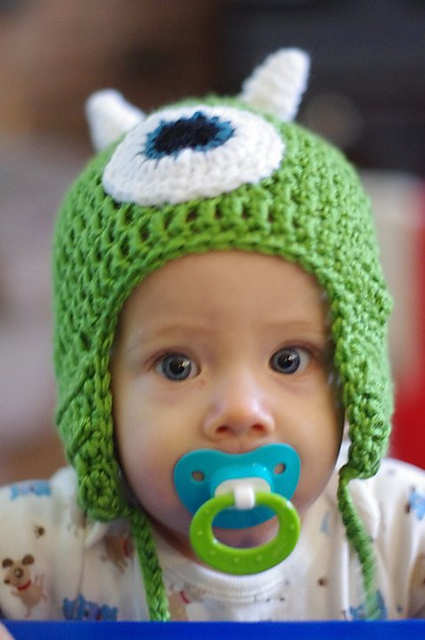 Mike Wazowski Crochet Baby Hat Pattern : 17 Best images about Monsters inc on Pinterest Disney ...