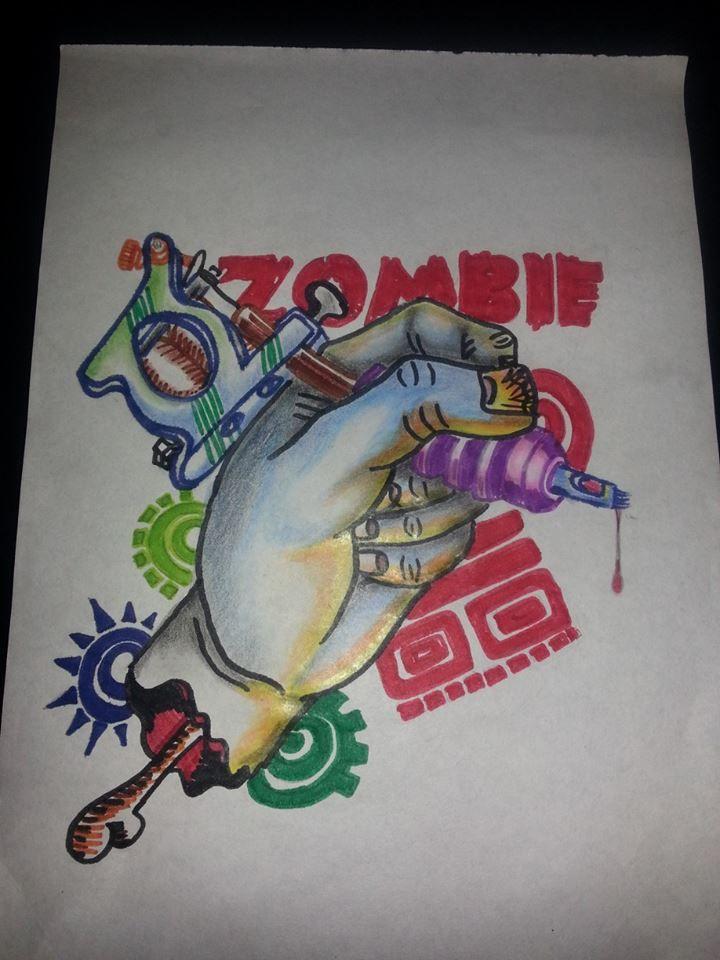 Desde el boceto hasta el tatuaje. Zombie Tattoo