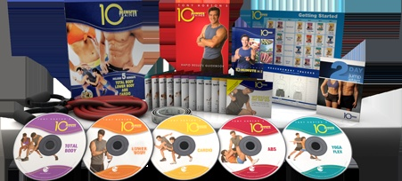 Tony Horton's 10 Minute Trainer.  Honestly, I love it.  Good program to start a workout routine.  At this point, I usually mix/match 2 out of the abs, total body, lower body, and yoga to do in combo with my normal cardio routine.
