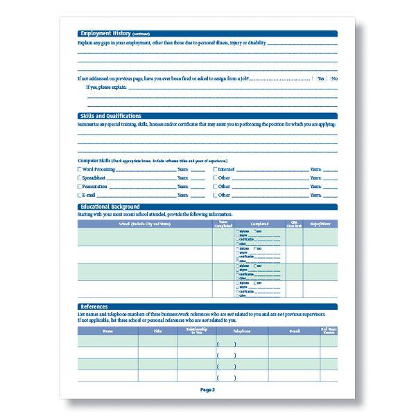 Blank Job Application Job Application Job Application Template Employment Application
