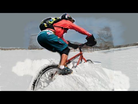▶ Fat bike ride up Big Bear Snow Summit in the snow - YouTube