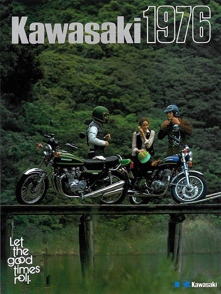 Kawasaki Motorcycle Ad (1976)