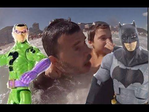 Batman Charada DC Comics Papai RG Praia Beach Surf Surfing Waves Ondas C...