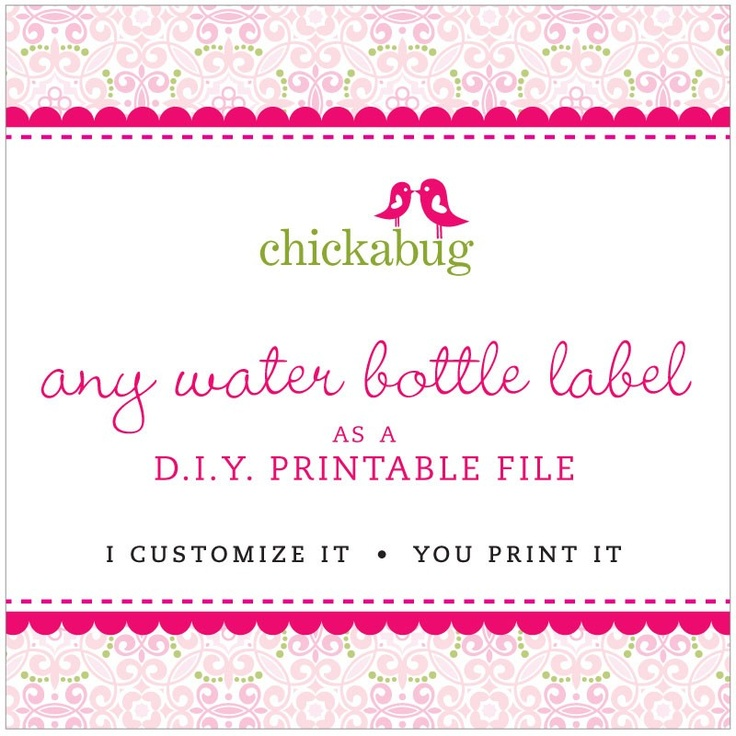88 Best Water Bottle Labels Images On Pinterest | Water Bottle