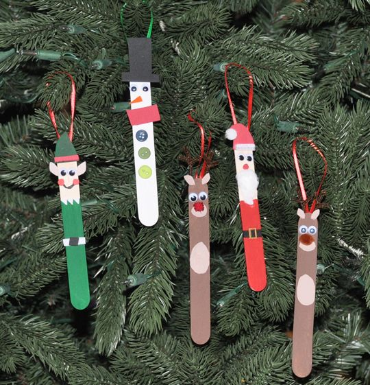 DIY Popsicle Stick Christmas Ornaments