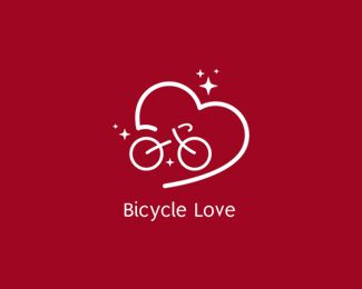 Bicycle Love Logo design - Bicycle related, may also be used for a bicycle retailer, company or bicycle repair outlet. Price $600.00
