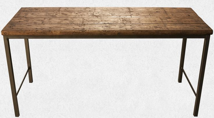 Industrial plank desk. Very cool and fucking awesome! From moodi.dk