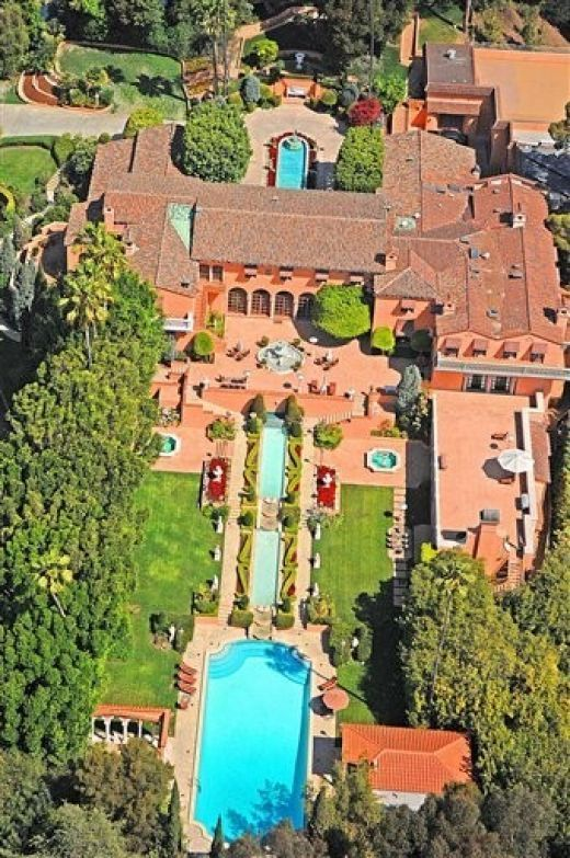 5th most expensive home in the world - Hearst Mansion in Beverly Hills. Former home of William Randolph Hearst and was built in 1926.  This mansion is not only famous for having movie star neighbors, but it was also featured in The Godfather movie.  The home has 29 bedrooms, 3 pools, 2 tennis courts, a disco, and a private cinema.