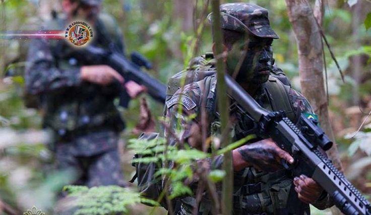 Tropas do Brasil, Peru e Colômbia treinam na Amazônia com apoio dos EUA. Tropas do Brasil, Peru e Colômbia iniciaram uma operação de treinamento conjunto pa