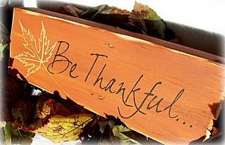 Be Thankful sign!