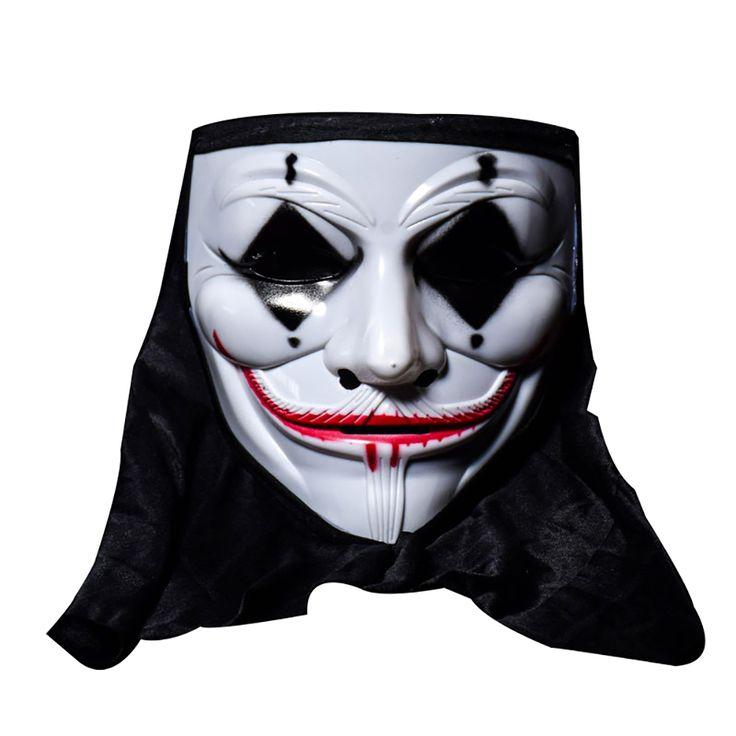 Halloween Skull Vampire V Clown Mask Bar Dance Horror Scary Soul Hip-hop Male Adult